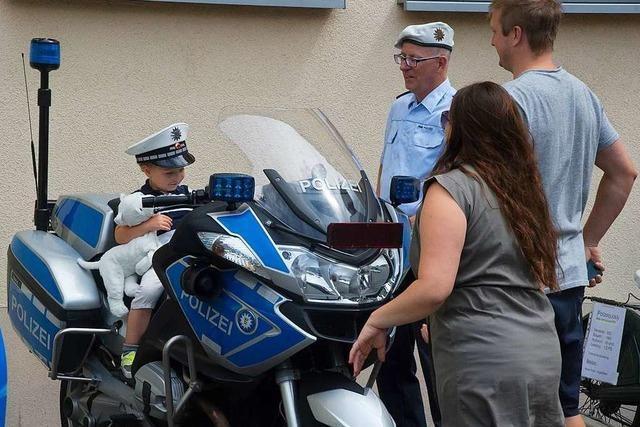Die Polizei informiert beim Präventionstag