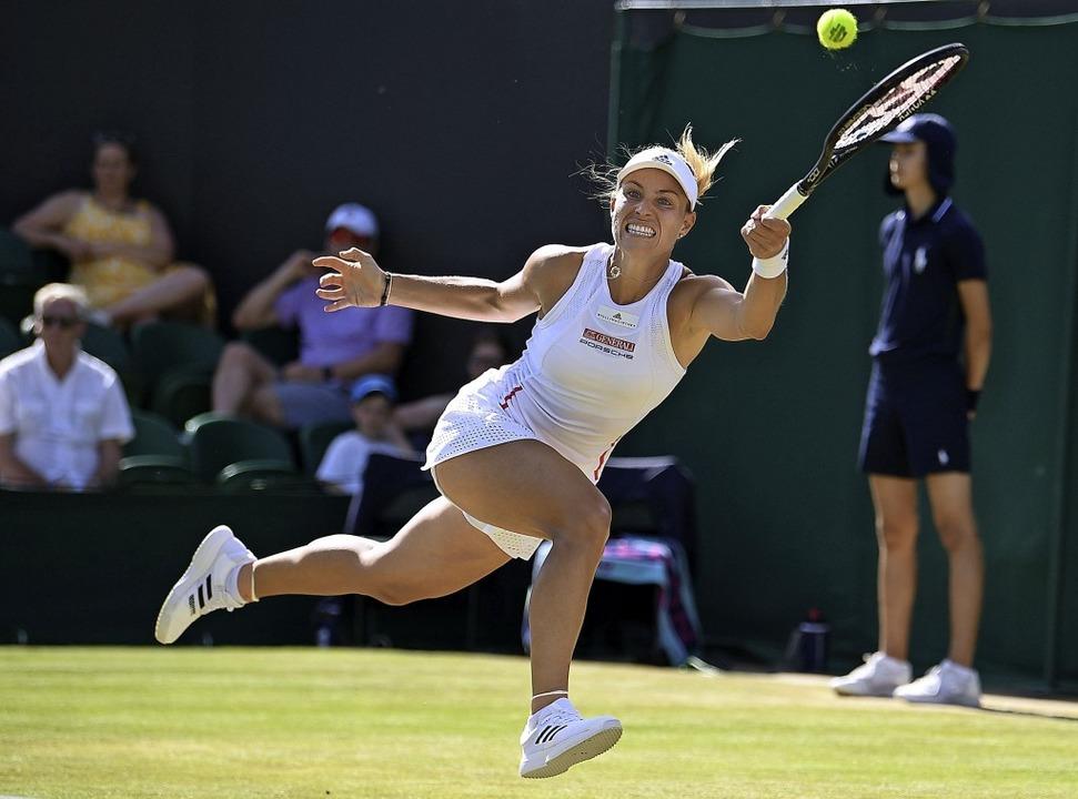 Angelique Kerber lieferte eine ihrer d...Vorstellungen in Wimbledon überhaupt.   | Foto: BEN STANSALL (AFP)