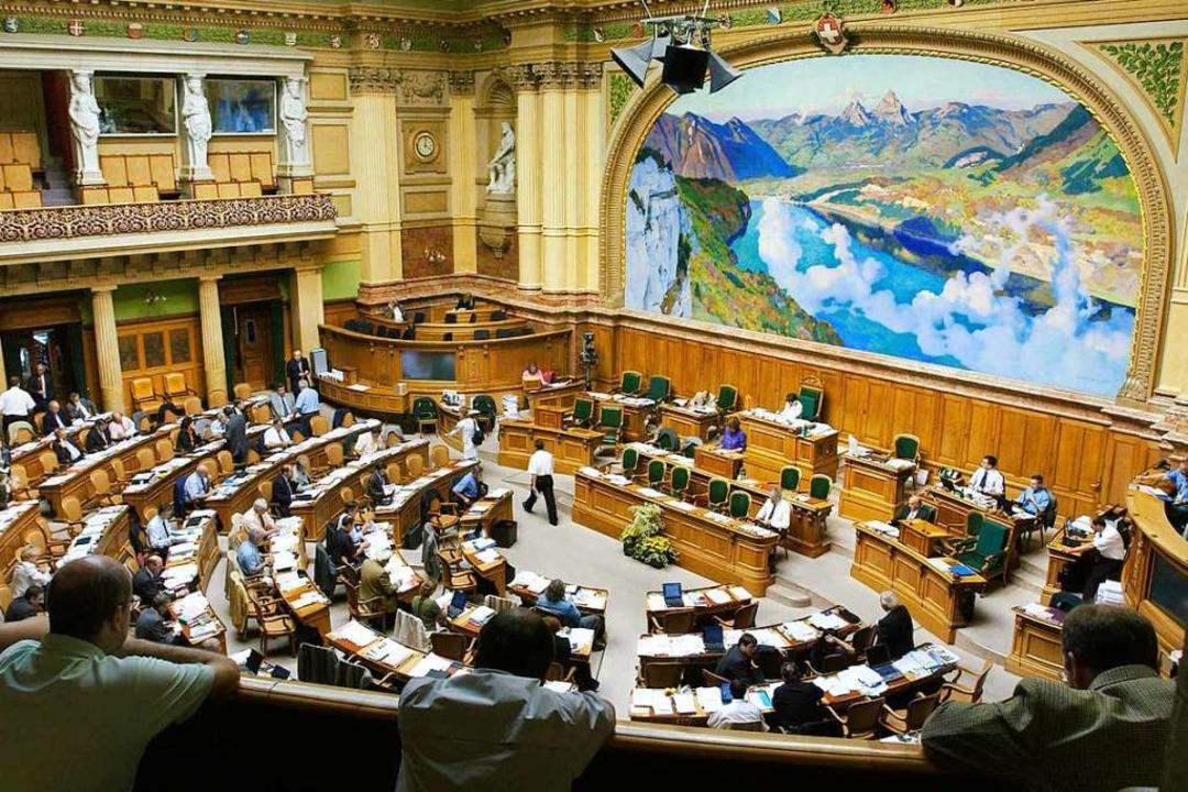 Auch eine Sitzung des Nationalrats erl...che Bildung und der Badischen Zeitung.    Foto: PETER MOSIMANN (Parlamentsdienste 3003 Bern)