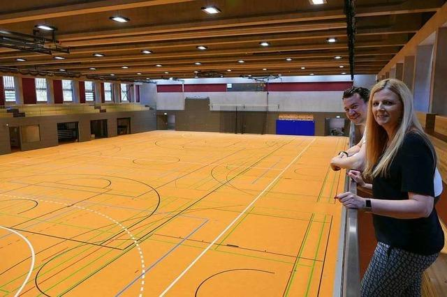 Die ehemalige Blumenhalle der LGS ist jetzt bereit für den Sport