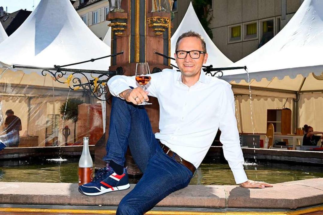 Denis Kirstein, Geschäftsführer der Kaiserstühler Wein-Marketing GmbH  | Foto: Thomas Kunz