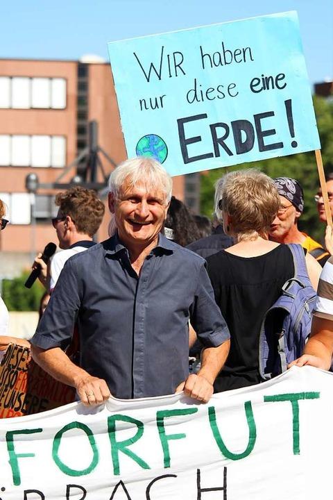 Mit dabei war auch der Grünen-Bundestagsabgeordnete Gerhard Zickenheiner.  | Foto: Joshua Kocher