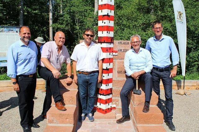 Historischer Rheinpegel ist wieder hergestellt