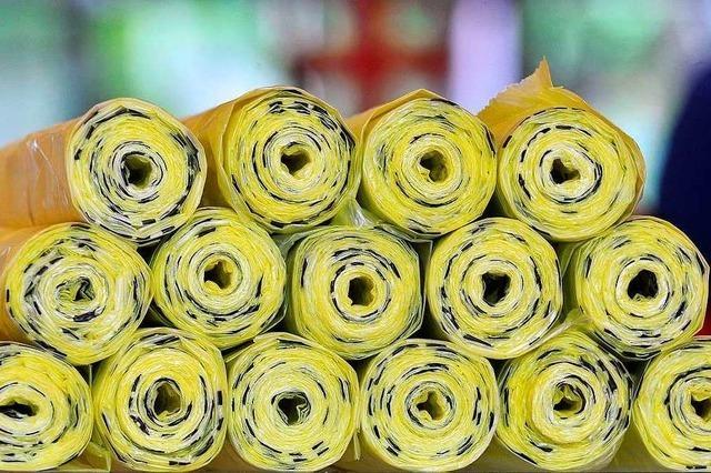 Es soll bei der monatlichen Abfuhr der Gelben Säcke bleiben