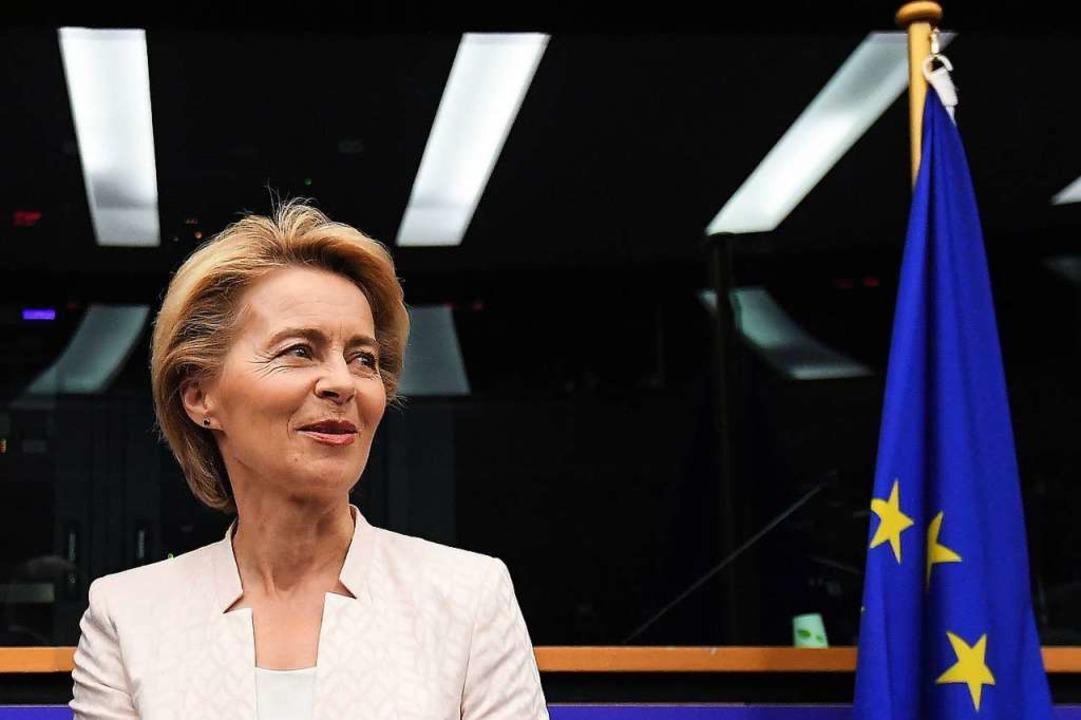 Ursula von der Leyen wurde zur EU-Kommissionspräsidentin nominiert (Archivbild).  | Foto: FREDERICK FLORIN (AFP)
