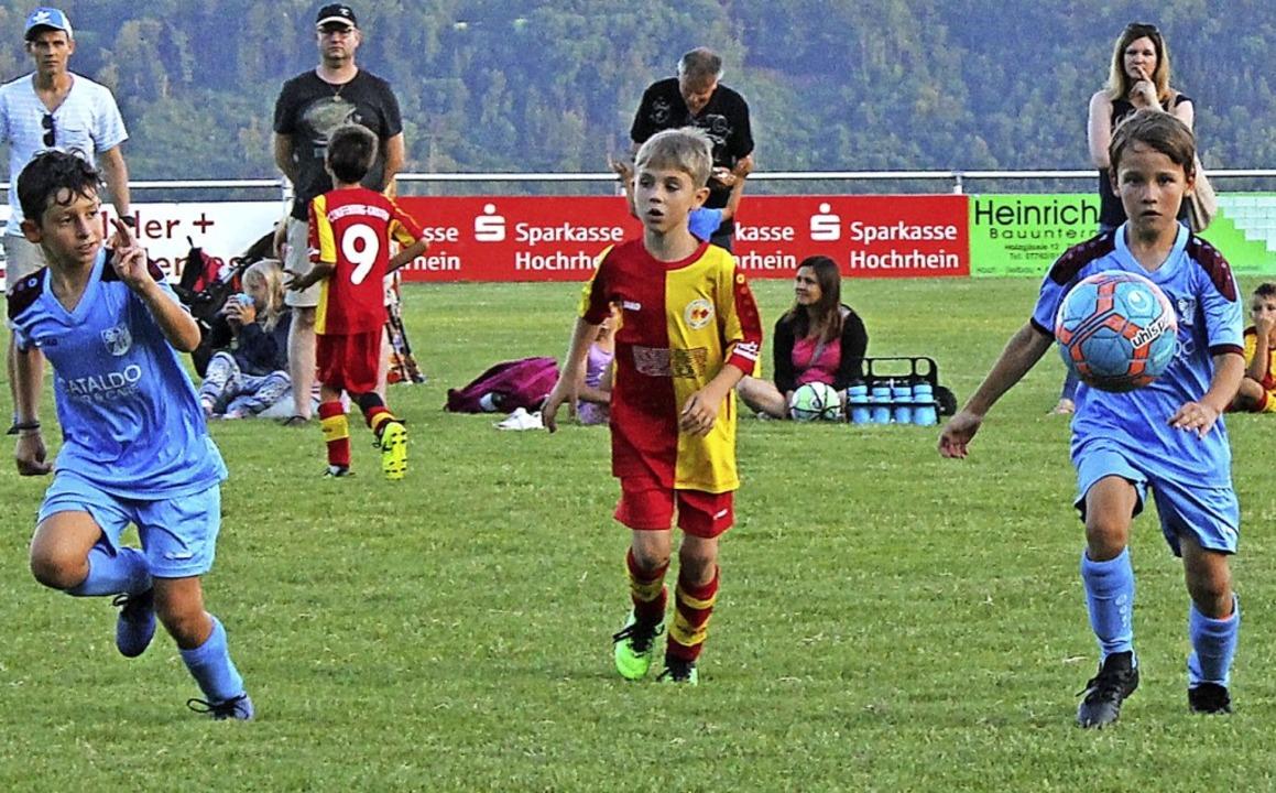 14 Mannschaften haben am F-Junioren-Tu...ht der Spaß am Fußball im Vordergrund.  | Foto: Michelle Güntert