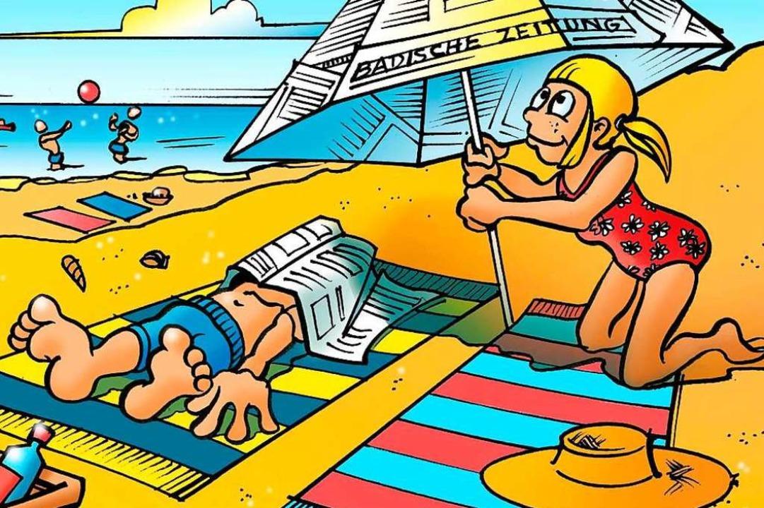 Auch B. Zetti und Betti Z. müssen sich...er von ihnen auch eine Sonnenallergie?    Foto: Ferdinando Terelle