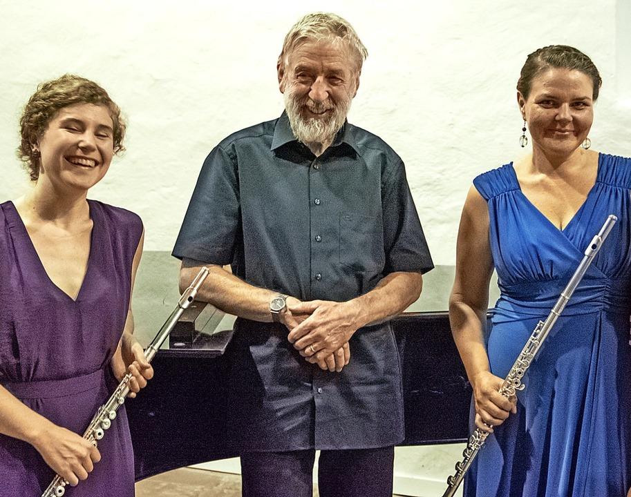 Kennen sich seit vielen Jahren (von li...r, Klaus Dürrschnabel und Lailah Roos   | Foto: Paul Eischet