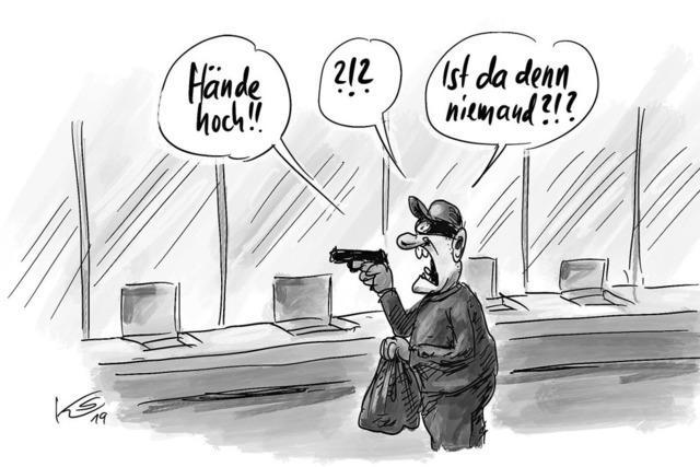 Demnächst in den Filialen der Deutschen Bank . . .