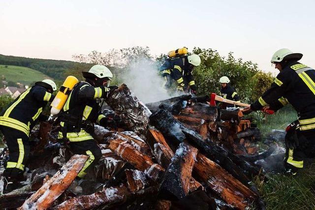 Brennende Rebhütten im südlichen Breisgau: Polizei geht von Brandstiftung aus