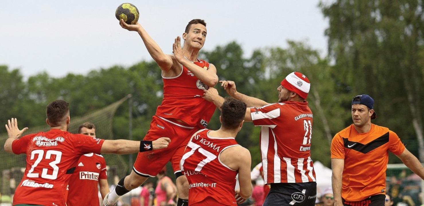Handballer aus München und Mainz, Fran...er Schweiz trafen sich in Meißenheim.   | Foto: Peter Aukthun-Goermer