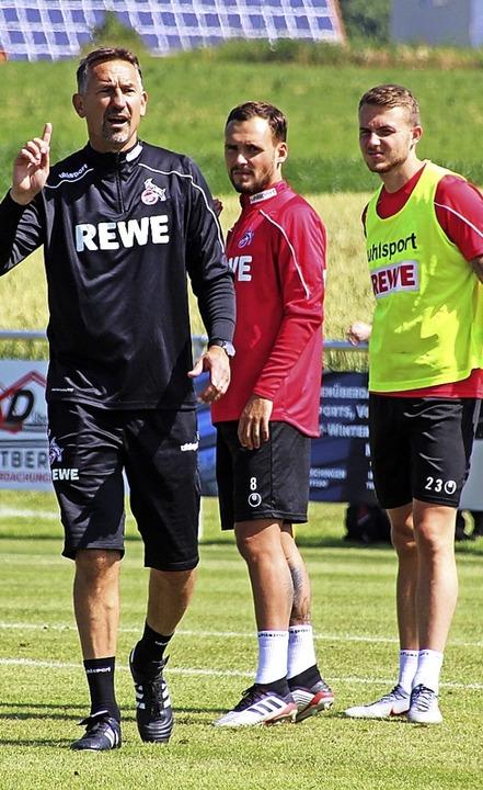 Kölns Trainer Achim Beierlorzer forder...n Bad Dürrheim viel Laufbereitschaft.   | Foto: Heinz Wittmann