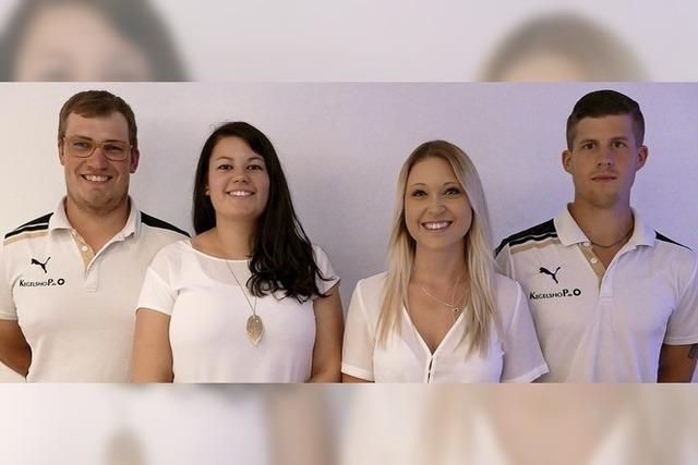 Ein Quartett führt die Kegler