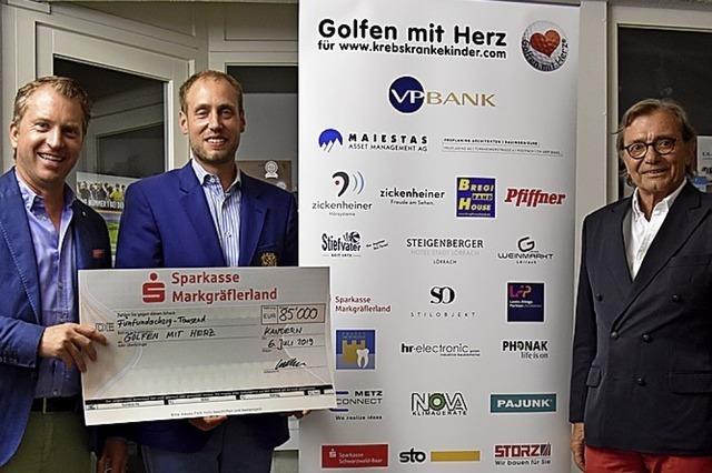 85 000 Euro für krebskranke Kinder ergolft