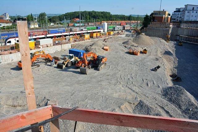 Baustelle der Dreiländergalerie in Weil am Rhein ruht derzeit
