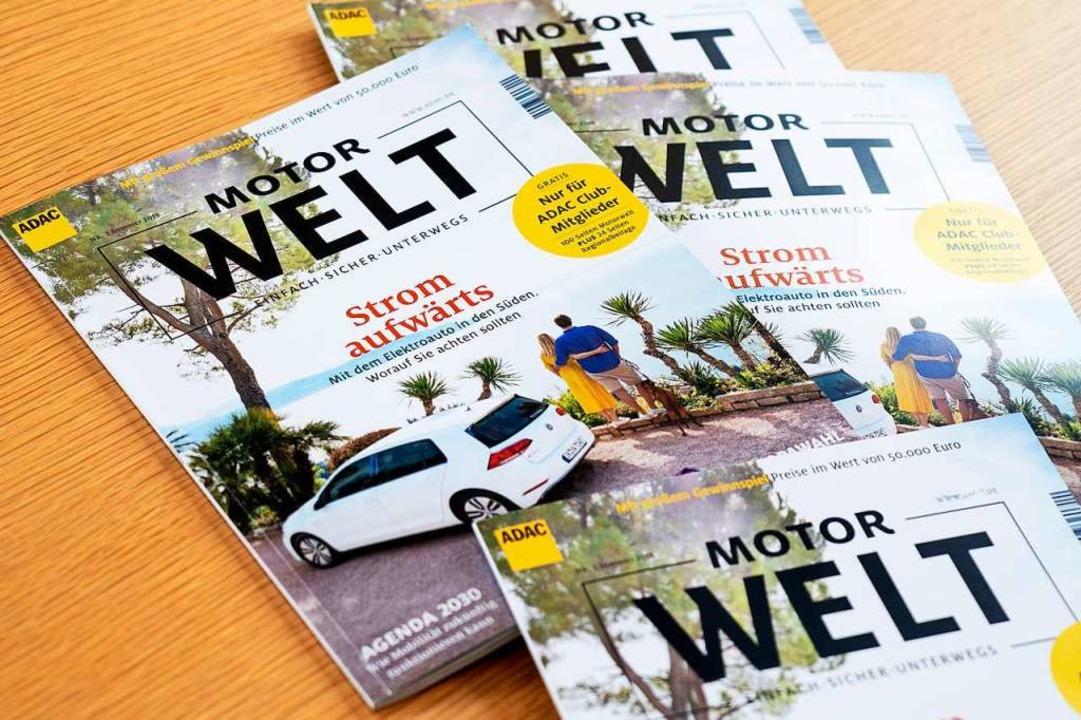 Kommt nicht mehr automatisch ins Haus ... ADAC-Mitgliederzeitschrift Motorwelt.  | Foto: Peter Neusser (dpa)