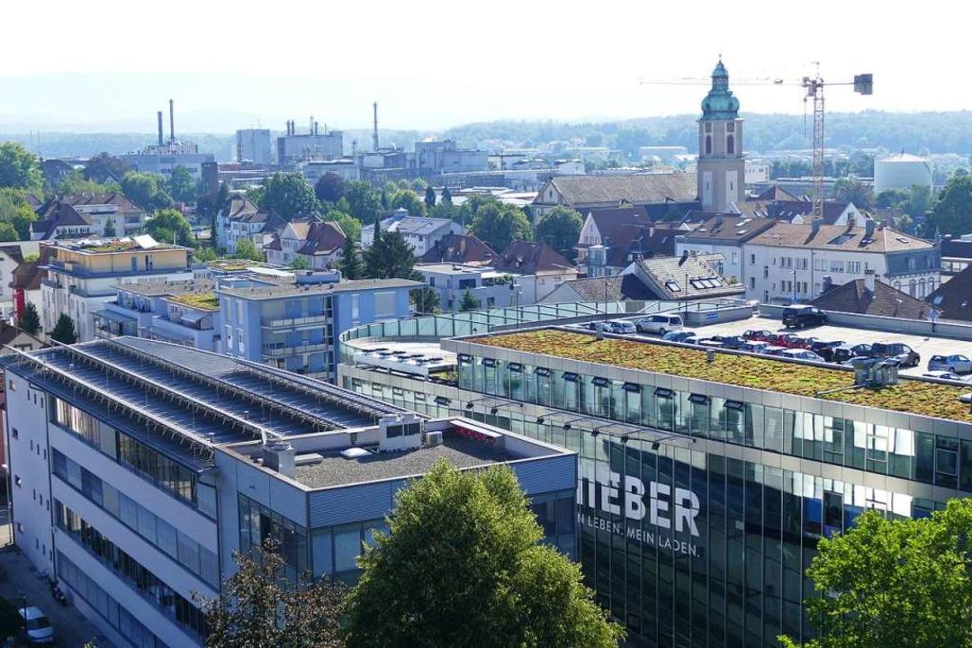 Die Chemieindustrie in Rheinfelden ist...ss auf die städtebauliche Entwicklung.    Foto: Ingrid Böhm-Jacob