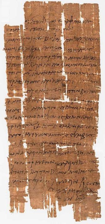 Der Papyrus P.Bas. 2.43 befindet sich ...en Zeugnisse aus dem römischen Ägypten  | Foto: Uni Basel