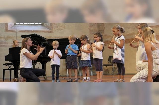 Musikschüler, die über sich hinauswachsen