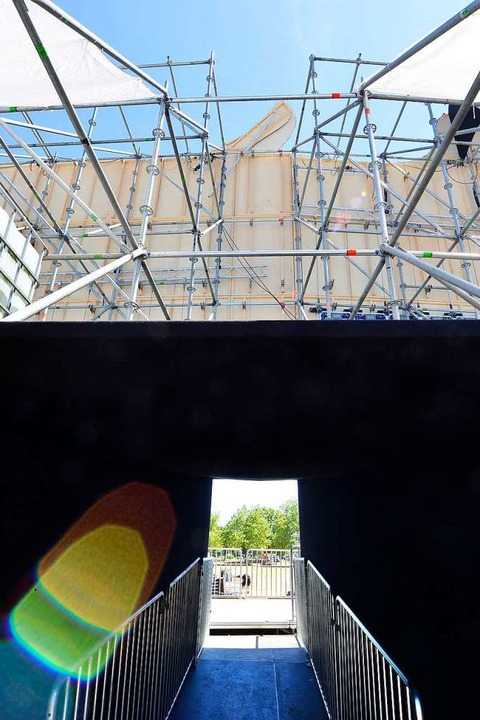 Aufgang auf die große Stage 3 von hinten  | Foto: Michael Bamberger