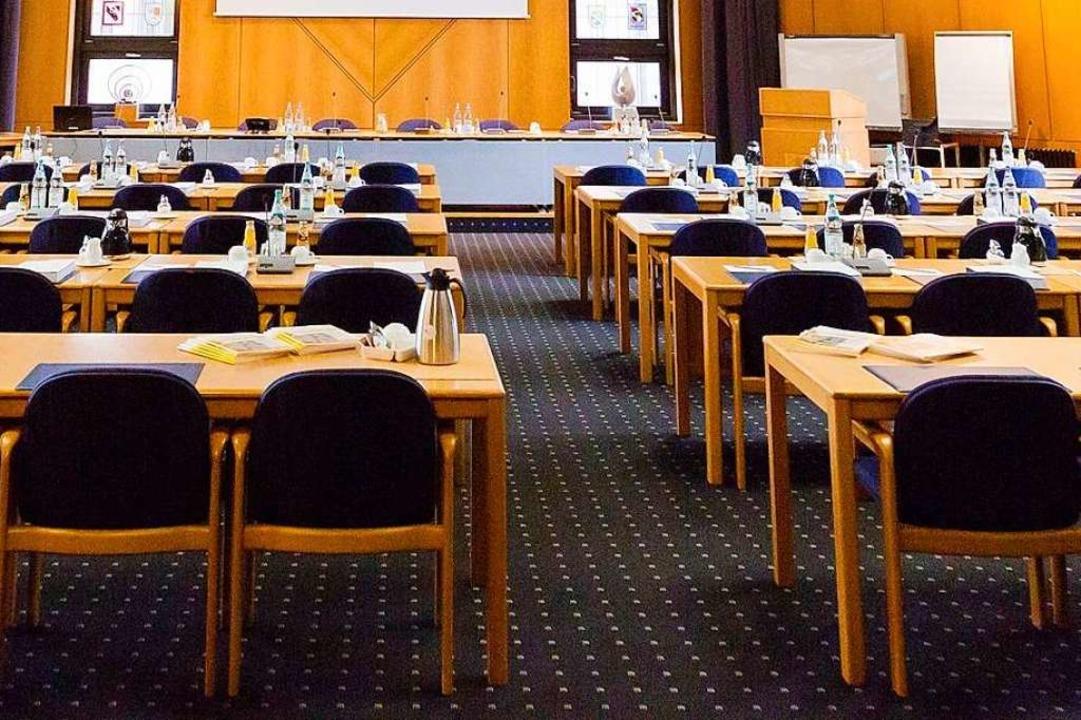 Blick in den Sitzungssaal des Kreistags  | Foto: Christoph Reichmann