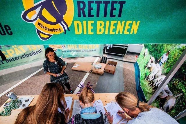 Gegen die Bienen-Initiative in Baden-Württemberg gibt es Vorbehalte