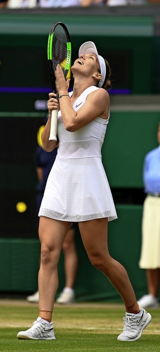 Simona Halep nach ihrem Halbfinalsieg   | Foto: DANIEL LEAL-OLIVAS (AFP)