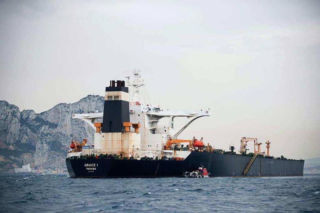 Die jüngste Konfrontation vor der iran...es Öl nach Syrien habe bringen wollen.  | Foto: JORGE GUERRERO (AFP)