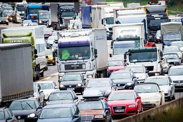 Auf den Autobahnen wird es eng