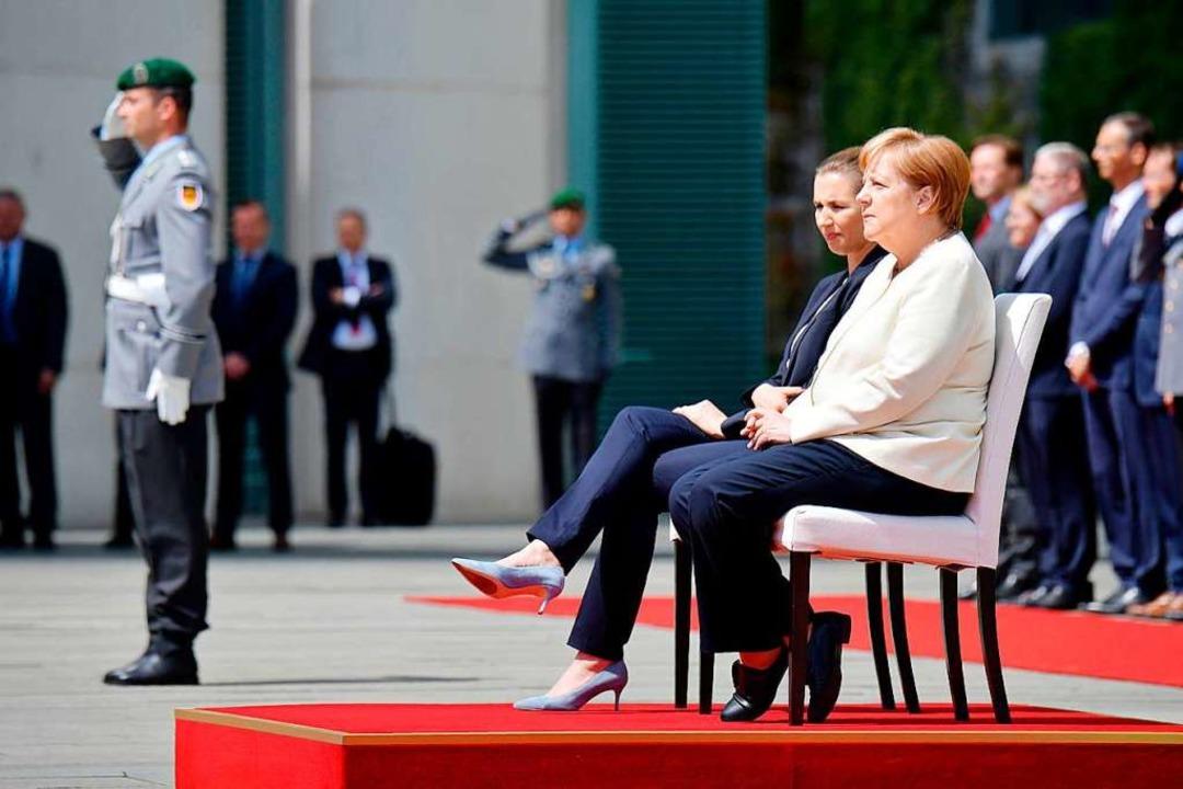Empfangszeremonie im Sitzen  | Foto: TOBIAS SCHWARZ (AFP)