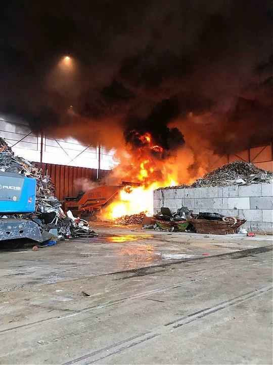 Das Feuer konnte schnell gelöscht werden.  | Foto: Polizei Basel-Land