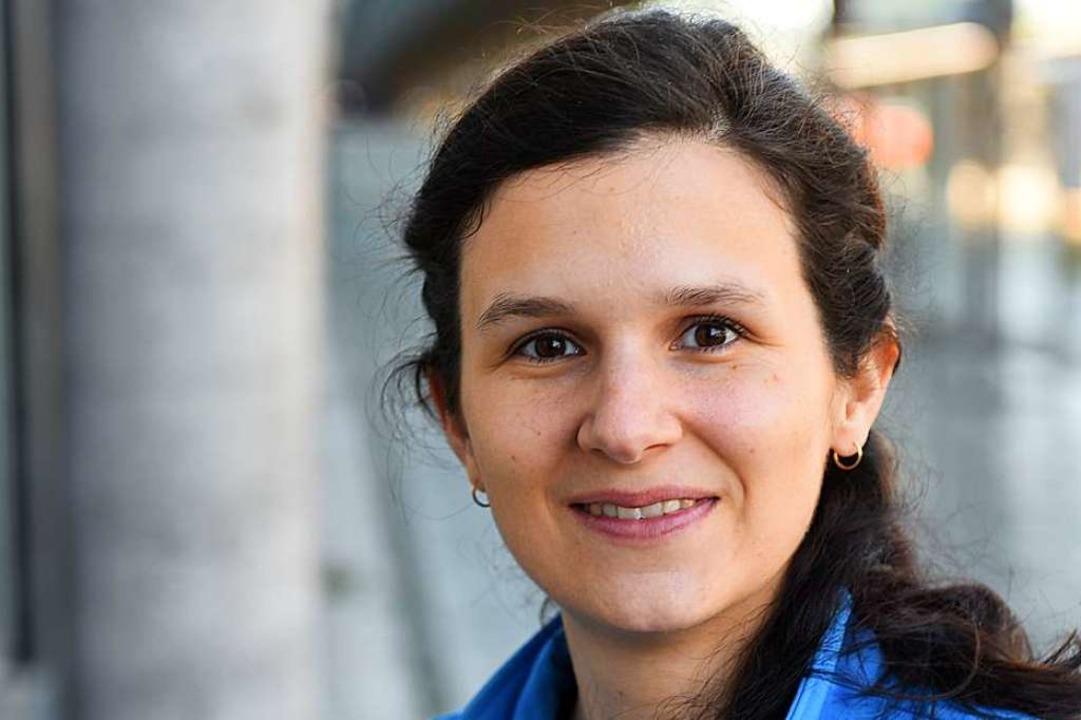 Sarah Gugel, die Co-Leiterin der Bahnhofsmission Freiburg.  | Foto: Rita Eggstein