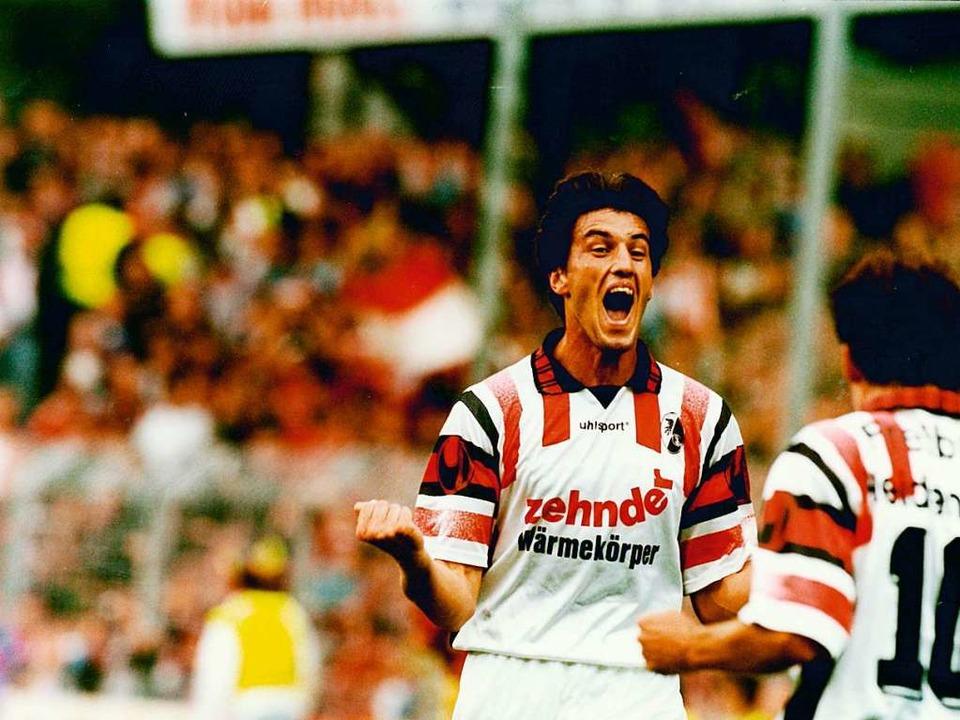 Mai 1993: Doppelpack gegen Fortuna Düs... Sieg des Sportclubs gegen Düsseldorf.  | Foto: Michael Heuberger