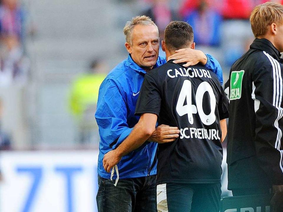 September 2012: Nach 14 einhalb Jahren...n Fortuna als Trainer des SC Freiburg.  | Foto: Jonas Güttler
