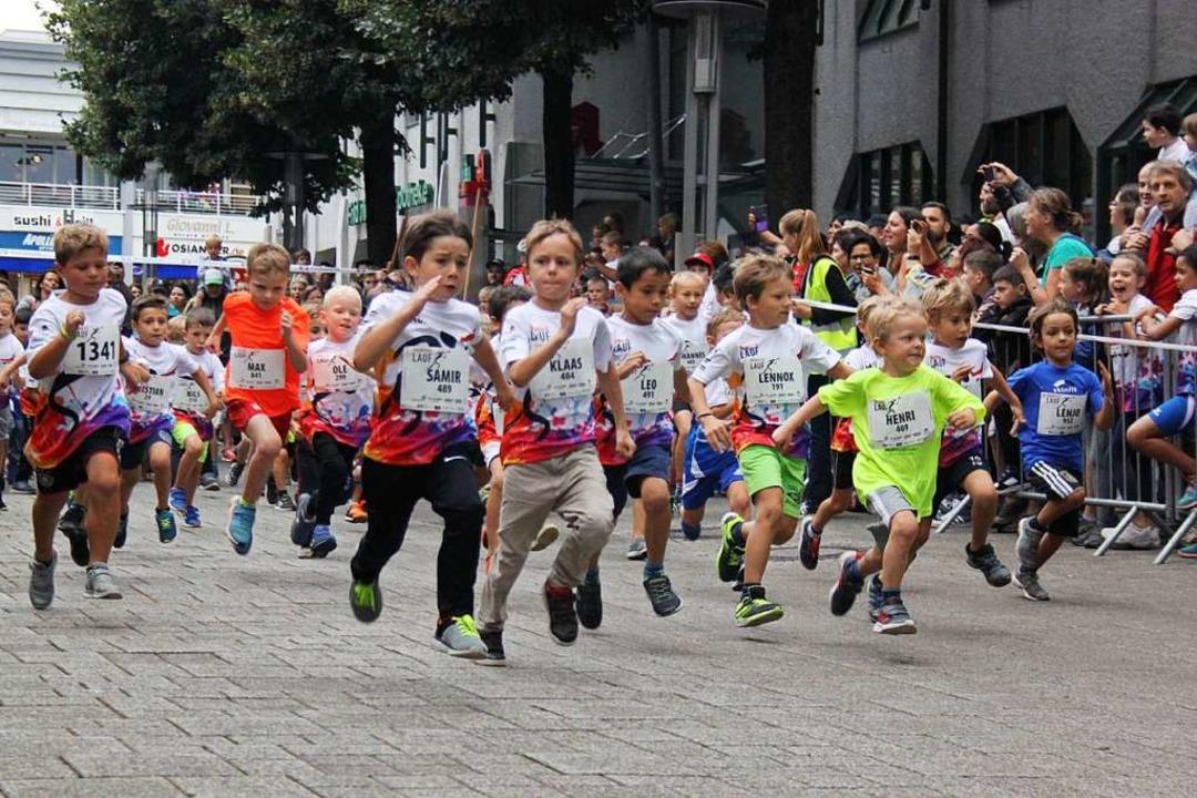 Ehrgeiz beim Bambini-Lauf  | Foto: Dora Schöls