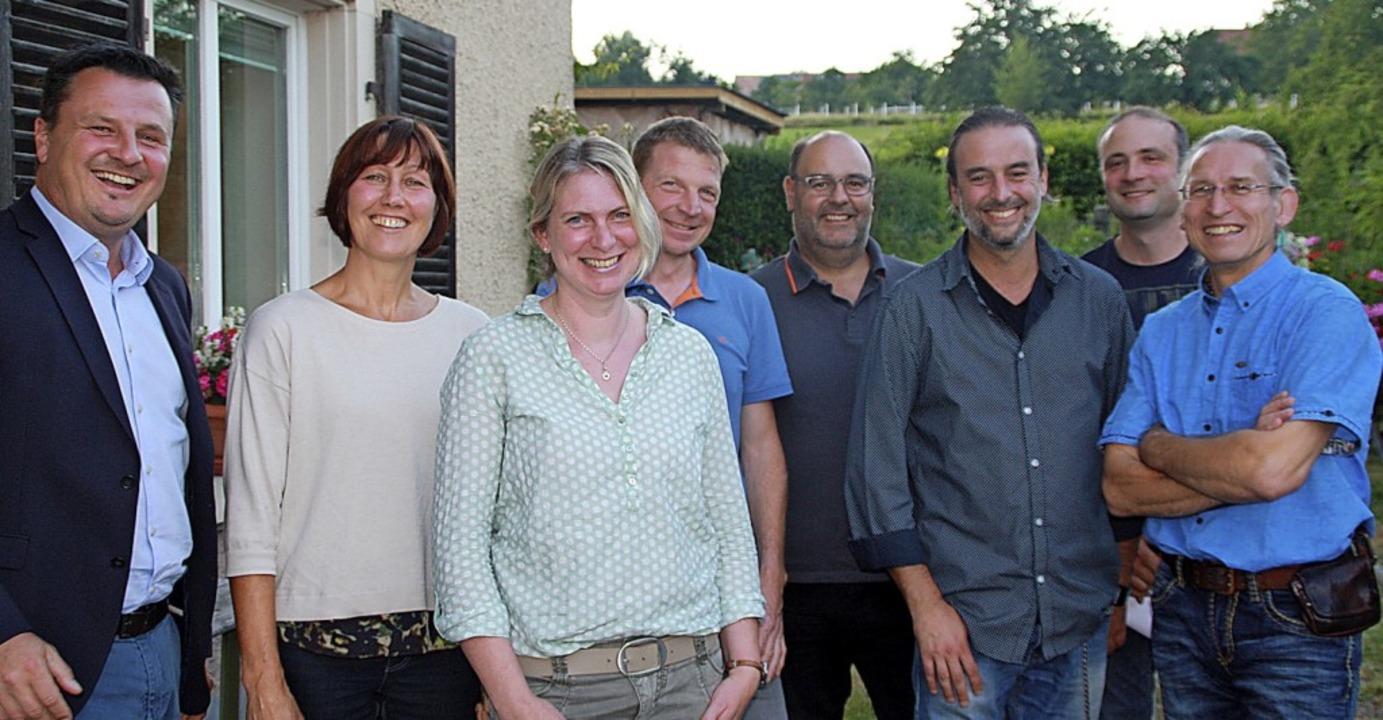 Vier von sieben Ortschaftsräten in Hän... Ortsvorsteher Dieter Muck (von links)  | Foto: Gerd Leutenecker