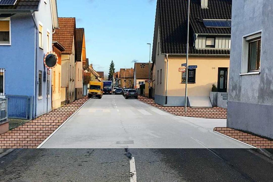 Mit einem gepflastertem Fußgängerberei...d damit sicherer für Fußgänger werden.  | Foto: Privat