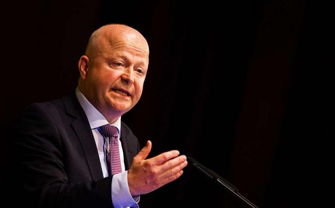 Michael Theurer wurde auf dem Parteitag als FDP-Landeschef wiedergewählt.  | Foto: Christoph Schmidt (dpa)