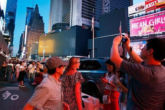 New Yorker bleiben trotz Blackout entspannt