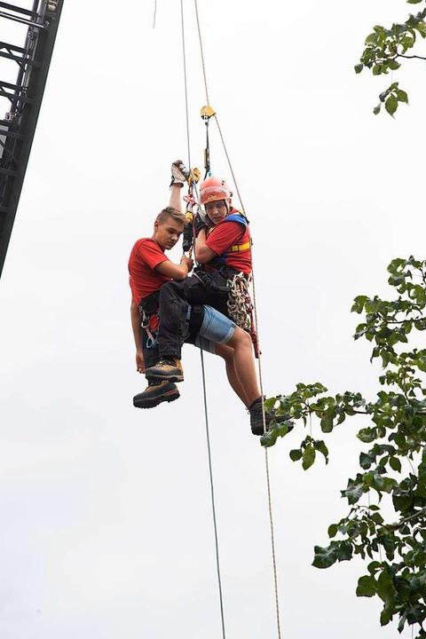 Bei Unfällen ist eine Rettung aus der Höhe oft die einzige Möglichkeit.    Foto: Volker Münch