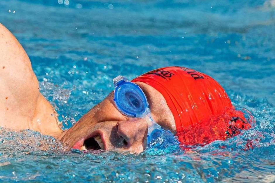Schwimmen war eine Disziplin beim Megathlon. (Foto: Wolfgang Scheu)