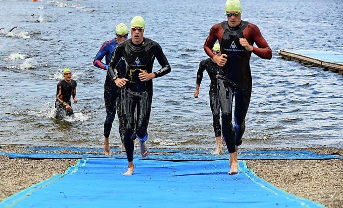 Nach den ersten 750 Metern im Schluchs...an anderer Stelle  wieder in den See.   | Foto: Murst