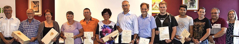 In einer gemeinsamen Veranstaltung der...n die Blutspender aus Müllheim geehrt.  | Foto: Volker Münch