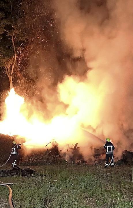 Das rechtzeitige Eingreifen der Feuerwehr hat Schlimmeres verhindert.  | Foto: Andreas Grozinger
