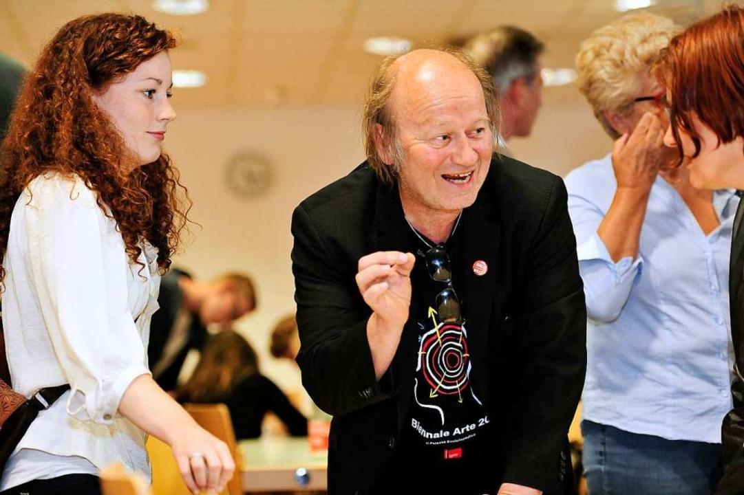 Julia Söhne (SPD) und Atai Keller (Kulturliste) bei einem Gespräch 2014.    Foto: Thomas Kunz