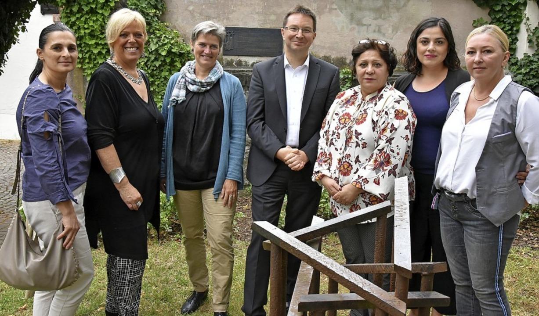 <BZ-Keyword>Interreligiöser Austausch:... und Maja Kobzarev (Jüdische Gemeinde)  | Foto: Benedikt Sommer