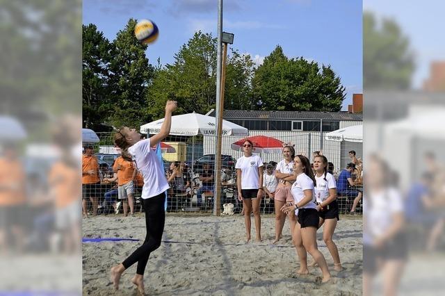 Sport und Spaß im Sand