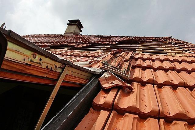 Mini-Tornado beschädigt Hausdächer und entwurzelt Bäume