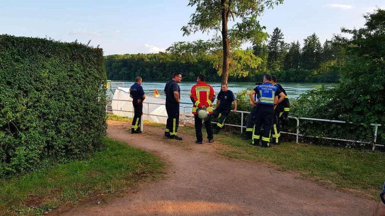 In Wehr-Brennet wurde ein Leichnam aus dem Rhein geborgen.  | Foto: Felix Held