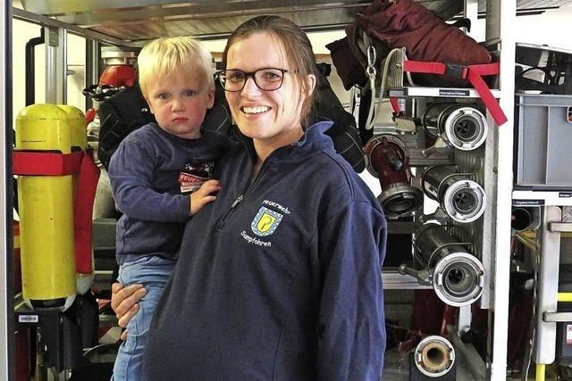 Die einzige Frau im Feuerwehr-Einsatz